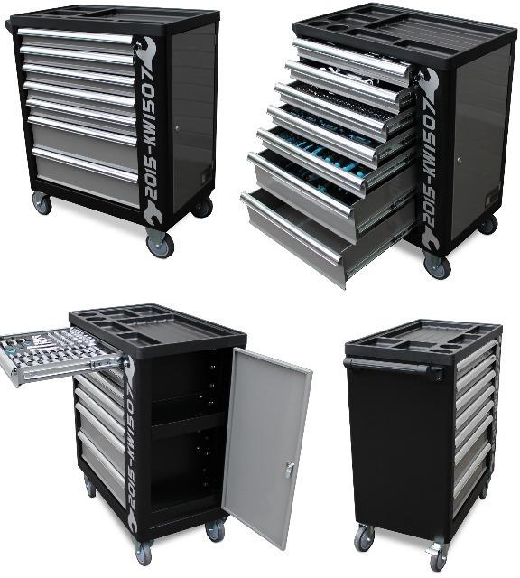 werkstattwagen werkzeugwagen gef llt mit werkzeug kraftwelle shop. Black Bedroom Furniture Sets. Home Design Ideas